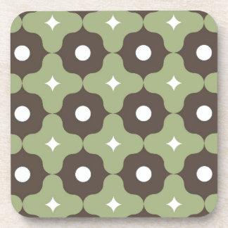 Grünes Blumen-Muster Untersetzer