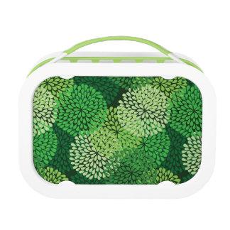 Grünes Blumenmuster Brotdose