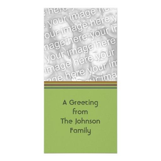 grünes Braun striped Individuelle Photo Karten
