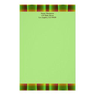 grünes braunes Muster Bedrucktes Papier