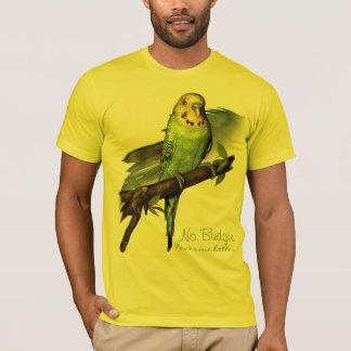 Grünes Budgie Kunst-T-Stück T-Shirt
