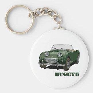 Grünes Bugeye Standard Runder Schlüsselanhänger