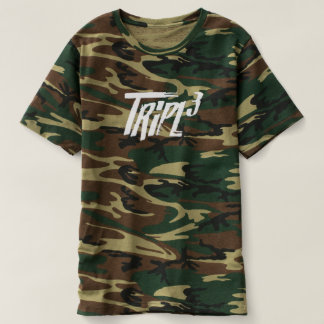 grünes Camouflage-Shirt T-shirt