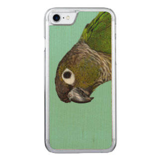 Grünes Cheeked Conure Carved iPhone 8/7 Hülle