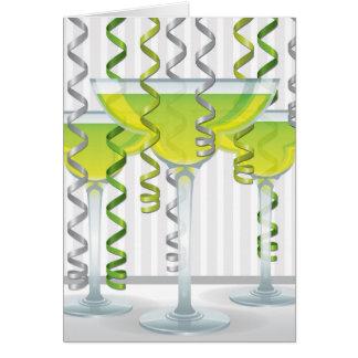 Grünes Cocktail und Band Karte