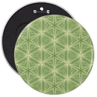 Grünes Efeu-Blatt-geometrischer Entwurfs-Abzeichen Runder Button 15,3 Cm