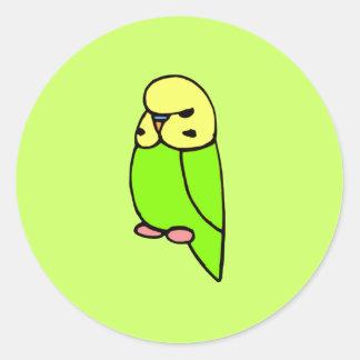 Grünes Englisch Budgie Stickers