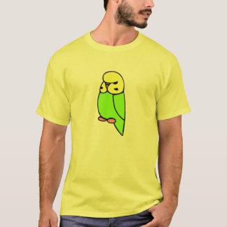 Grünes Englisch Budgie T-Shirt