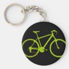 grünes Fahrrad - radfahrend Schlüsselanhänger