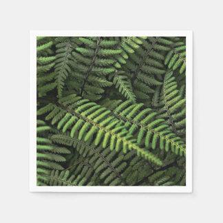 Grünes Farn-Blätter Serviette