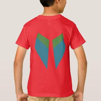 Grünes Flügelmacaw-T-Shirt T-Shirt