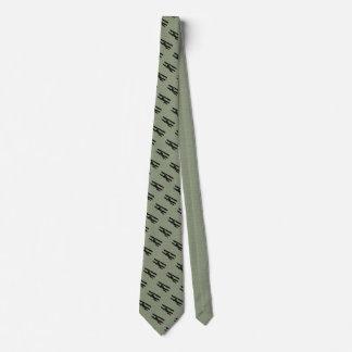 Grünes Flugzeug Individuelle Krawatte
