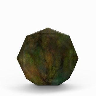 Grünes Fraktal marmorte Hintergrund-Preis Auszeichnung