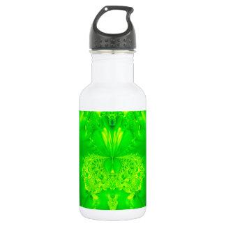 Grünes Frauenschuh Orchideen-Fraktal Trinkflasche
