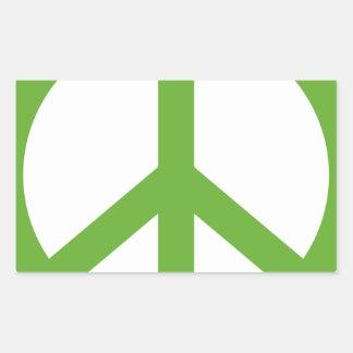 Grünes Friedenszeichen-Symbol Rechteckiger Aufkleber