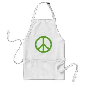 Grünes Friedenszeichen-Symbol Schürze