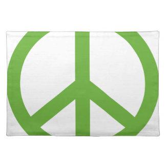 Grünes Friedenszeichen-Symbol Tischset
