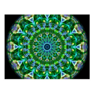 Grünes Frühlings-Kaleidoskop Postkarte