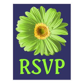 Grünes Gänseblümchen-Blumen-UAWG oder Gewohnheit Postkarte