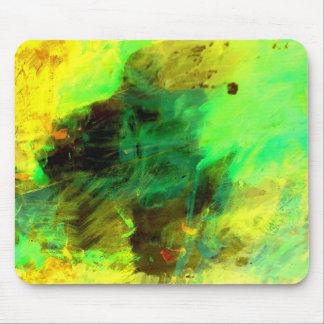 Grünes gelbes ursprüngliches abstraktes mauspads