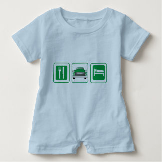 Grünes gemeines klassisches Auto Baby Strampler