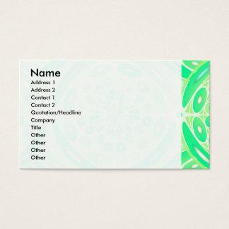 Grünes geometrisches der Kiwi Visitenkarte