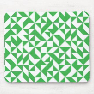 Grünes geometrisches Muster Mauspads