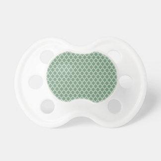 Grünes geometrisches Muster Schnuller