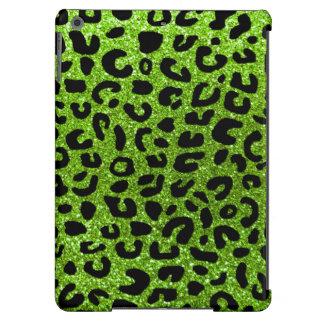 Grünes Geparddruckneonmuster iPad Air Hülle