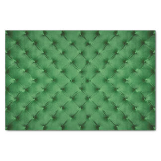 Grünes Geschenk Seidenpapier mit capitone
