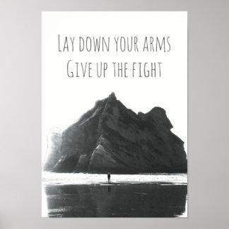 Grünes Gewehrlied-Texteplakat des Tag21 Poster
