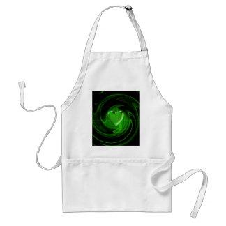 Grünes gewundenes Herz Schürze