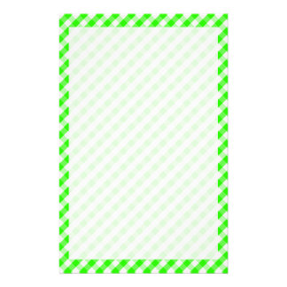 Grünes Gingham-Neonmuster durch Shirley Taylor Briefpapier