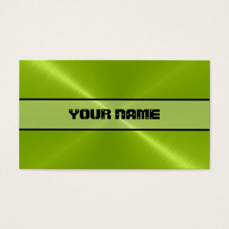Grünes glänzendes Edelstahl-Metall Visitenkarte