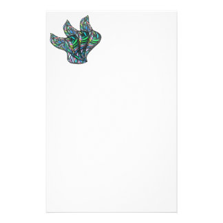 Grünes Glas-Fluss Briefpapier