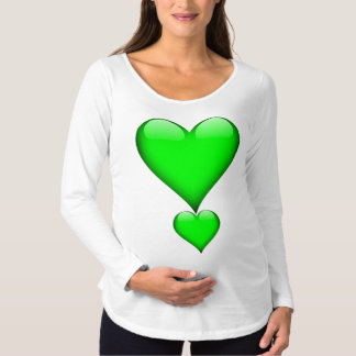 Grünes Glas-Herz Schwangerschafts T-Shirt