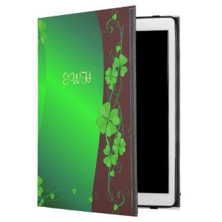 Grünes glückliches Kleeblatt Ihr Monogramm