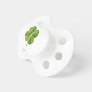 Grünes glückliches vierblättriges Kleeblatt Schnuller