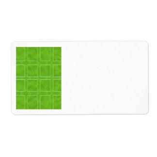 Grünes Gold - Thema-Entwurf-Sammlung Versandetikett