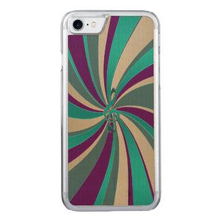 Grünes Goldmusikclef-Strudel Carved iPhone 8/7 Hülle