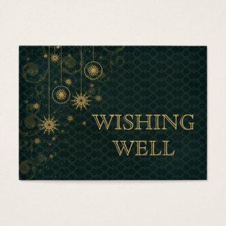 grünes Goldschneeflocke-Winterhochzeit, die gut Visitenkarte