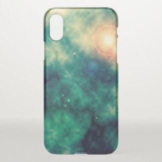 Grünes Goldstern-Raum-verbreiteter Nebelfleck und iPhone X Hülle
