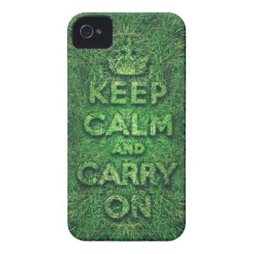 Grünes Gras behalten Ruhe und machen weiter iPhone 4 Cover