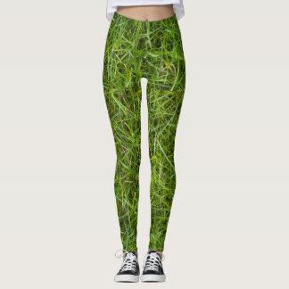Grünes Gras-Druck-Gamaschen Leggings