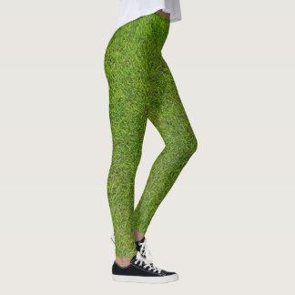 Grünes Gras-Gamaschen Leggings