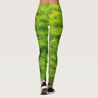 Grünes Gras-Muster-Gamaschen Leggings