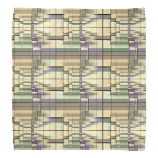 Grünes graues geometrisches Retro Halstuch