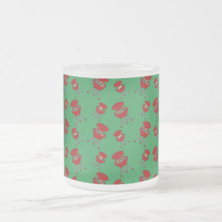 grünes Grillmuster Tee Tassen