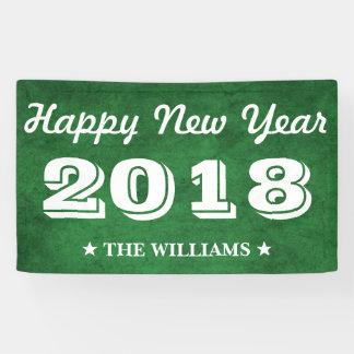 Grünes guten Rutsch ins Neue Jahr 2018 des Banner