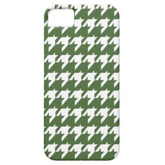 Grünes Hahnentrittmuster Etui Fürs iPhone 5